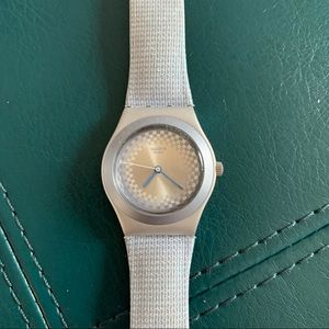Vintage Swatch Irony Light Blue Silver Watch